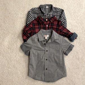 Dress Shirt Bundle Boy 2T- Baby Gap, Cat and Jack